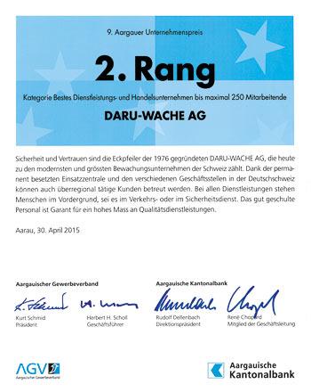 Aargauer Unternehmerpreis 2015